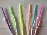 Colores Plástico Flexible Paja para beber Papel Envuelto
