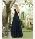 Lacet de robe de soirée perlant la robe formelle faite sur commande de robe élégante d'usager