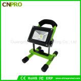 Tipo portable lámpara de la MAZORCA 10W de inundación recargable del LED de la luz brillante estupenda del trabajo