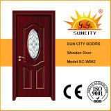Do projeto de madeira da porta principal do Teak portas de madeira (SC-W011)