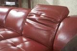 Sofá seccional de la sala de estar del ocio de la esquina moderna del cuero