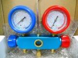 Customlized 2-Valve Manifold Refrigerant Pressure Gauge Set para R134A R410A Pr1003