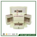 Коробка Jewellery PU способа Handmade кожаный косметическая