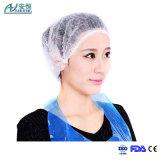 비 온천장 Tan 길쌈한 불룩한 모자가 백색 처분할 수 있는 머리 먼지 그물 모자에 의하여 기지개한다