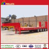 80ton del cargamento 4axles del cargador de Lowbed acoplado inferior semi