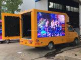 Pequeño LED vehículo publicitario móvil de la visualización de pantalla de 6 ruedas