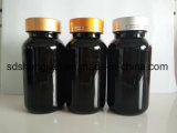 20cc 30cc 5cc 60こはく色の丸薬薬Ml 75はMl100cc 120cc150cc 175cc 225cc 250ccペットブラウンのカプセルのプラスチックびんを錠剤にする