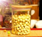 frasco de bambu do armazenamento do alimento do vidro de Borosilicate da tampa 400ml
