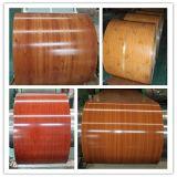 Tôle d'acier en bois enduite d'une première couche de peinture de configuration, PPGI en bois