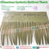 PVC/PE künstliche Palmesynthetischer Thatch für Umbralle Pavillionsynthetischen Thatch, Palm Leaf Hütte deckt at-0001 mit Ziegeln