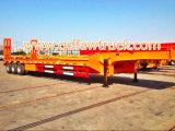 최신 판매! 60 톤 낮은 침대 트럭 트레일러