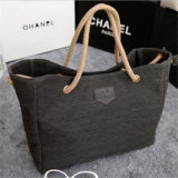 Новая тенденция хозяйственной сумки мешка холстины корейских просто мешков плеча (GB#2222)