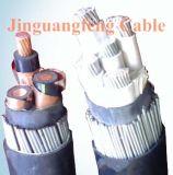 Cabo distribuidor de corrente de cobre isolado XLPE do condutor, fio de aço Yjv32 blindado