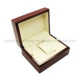 Caixa de empacotamento envernizada vermelho do único relógio
