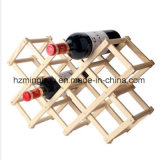 Color del registro Madera Red Wine Rack Estante Adjustable Kitchen Wine Rack titular de la botella