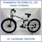 電気バイクを折るランドローバー