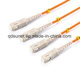 Cavalier duplex Patchcord de fibre optique de fibre optique de Sc-Sc millimètre