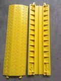 Rampa de borracha do protetor do cabo de 2 canaletas, protetor do cabo do plutônio/tampa do cabo/cruzamento do cabo