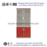 Aluminium Portes en verre Bureau Bookcase sur Mélamine Meubles de bureau (C28 #)