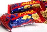 Linha de produção das barras de chocolate do cereal