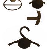 Kundenspezifischer schwarzer Plastikschal-Ring-Aufhängungs-Großverkauf