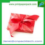 Rectángulo de regalo de empaquetado de la cinta de la Navidad del chocolate de encargo de la torta