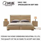 Кровать кожи мебели спальни конструкции двойной кровати способа самомоднейшая (G7005)