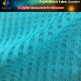 Plaid d'organza, tissu de polyester pour la robe