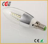 luz de la lámpara del bulbo 220V/110V LED de la vela de 5W LED