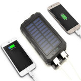 P68 Waterproof Solar Power Bank 10000mAh com Compass Sos Função Carregador Solar
