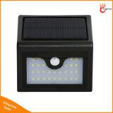 28LED lámpara de detección solar impermeable del movimiento de PIR solar al aire libre Camino del jardín Luz