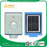 Tous dans un réverbère solaire Integrated élevé du détecteur de mouvement du lumen 5W DEL
