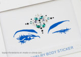 Autoadesivo del tatuaggio dell'occhio di bellezza dell'autoadesivo provvisorio del tatuaggio del corpo nuovo (S016)