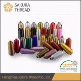 Goldsilberne Farben-Frau Type Metallic Yarn oder Lurex Garn für die Stickerei/Spinnen/, die stricken