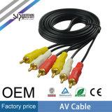 Vídeo audio 2RCA del precio de fábrica de Sipu al cable de 2RCA sistema de pesos americano