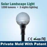 Lumière extérieure solaire lumineuse superbe IP67 de DEL avec la batterie de Lithuim