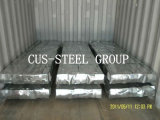 O zinco revestiu a telhadura galvanizada /Corrugated galvanizada do metal da folha do ferro