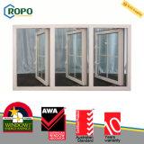 2016 spätestes doppeltes glasig-glänzendes Flügelfenster-Fenster des Gitter-Entwurfs-UPVC, großes Glaswindows
