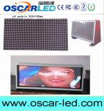 P2.5mm P5mm P6mm 높은 광도 무선 3G Asychronous LED 택시 지붕 표시 또는 택시 최고 발광 다이오드 표시