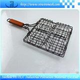 ピクニックに使用するバーベキューの金網