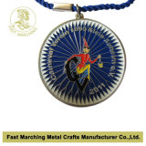 Medaglia di oro dello smalto, medaglione del ricordo del premio di sport