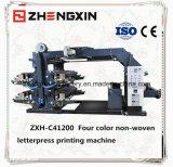 Flexographischer nicht gesponnener Vier-Farbe Drucken-Maschinen-Preis (ZXH-C41200)