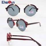 Óculos de sol do PC da forma redonda sem ponte (KS1254)
