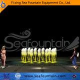 Fontaine décorative de contrôle de programme d'éclairage LED d'acier inoxydable