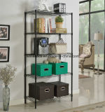 Las gradas calientes de la venta 5 ennegrecen el estante de visualización de libro del alambre de metal para el hogar/la oficina