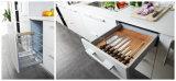 Alta cabina de cocina blanca técnica del color de la dimensión de una variable redonda