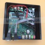 Gráfico industrial de la base I5 4200u HD4400 de la PC del DP de los multimedia 4k Barebone Fanless mini HTPC HDMI