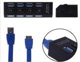 USB 3.0 허브는 스위치를 가진 4개의 포트 USB 포트를 연장한다