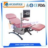 Linakを折るセリウムのFDAのISOによって証明される専門の容易な操作によっては病院及び医療センター装置の血のコレクション表の寄付の透析の椅子が自動車に乗る