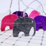 Non-Wovenファブリック多彩な象の子供の寝室の装飾電池式妖精ストリングライト